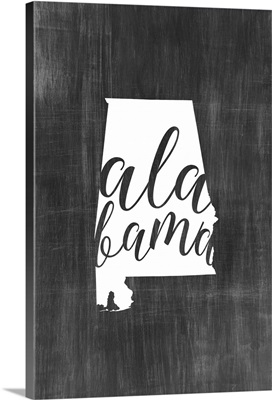 Home State Typography - Alabama