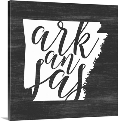 Home State Typography - Arkansas