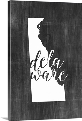 Home State Typography - Delaware