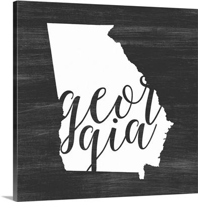 Home State Typography - Georgia