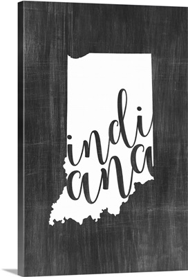 Home State Typography - Indiana