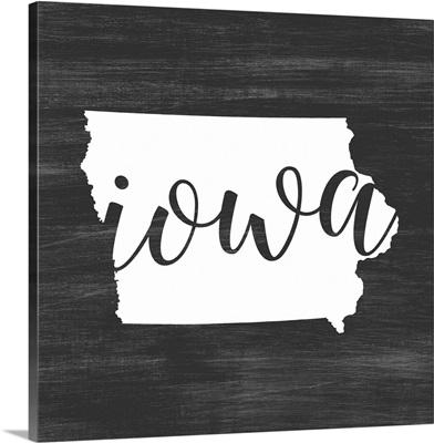 Home State Typography - Iowa