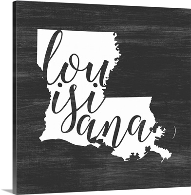 Home State Typography - Louisiana