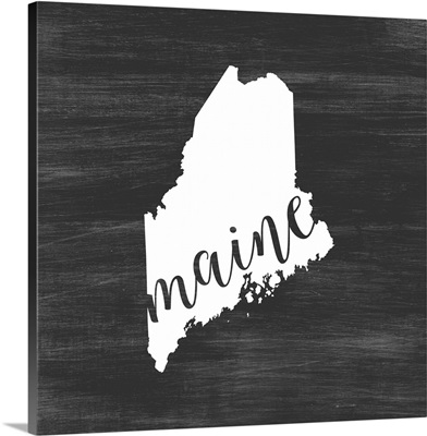 Home State Typography - Maine
