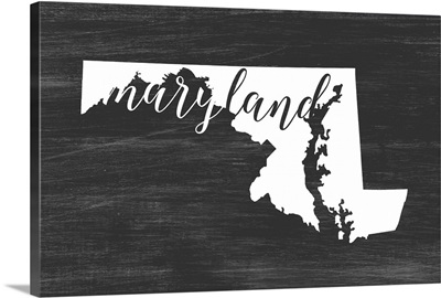 Home State Typography - Maryland