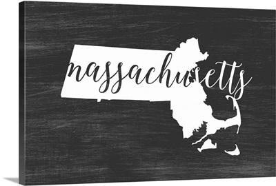 Home State Typography - Massachusetts