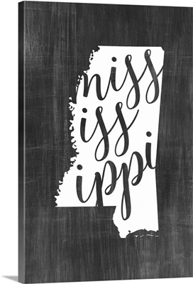 Home State Typography - Mississippi