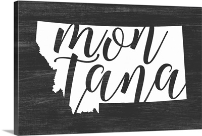 Home State Typography - Montana