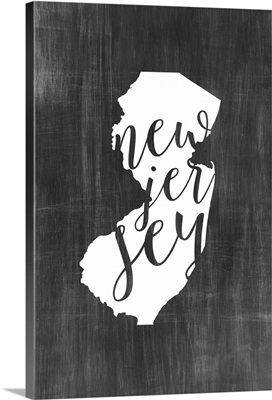 Home State Typography - New Jersey