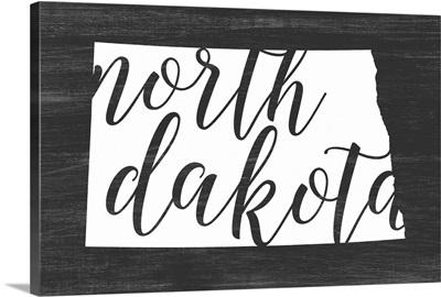 Home State Typography - North Dakota