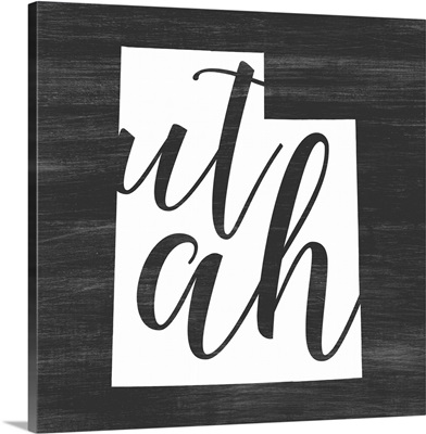 Home State Typography - Utah