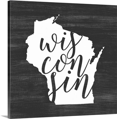 Home State Typography - Wisconsin