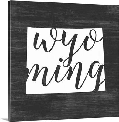 Home State Typography - Wyoming