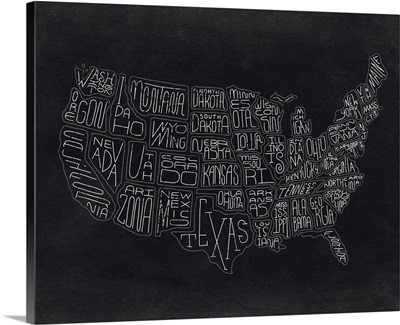 Homemade Chalk Map Of The United States