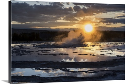 Hot Springs at Sunset