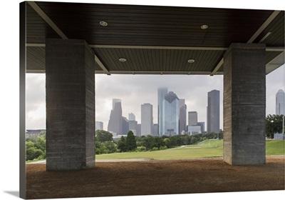 Houston Skyline from Eleanor Tinsley Park.