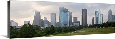 Houston TX Cloudy Skyline