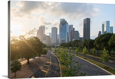 Houston TX Sunshine Skyline