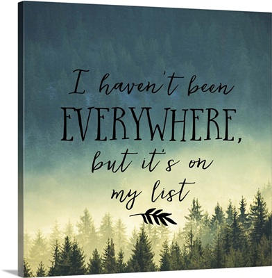 I Haven't Been Everywhere - Sentiment