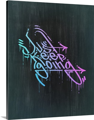 Just Keep Going - Neon Motivational Typography