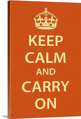 Keep Calm Wall Art [Cream on Orange]