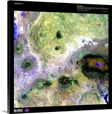 Kilimanjaro - USGS Earth as Art
