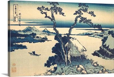 Lake Suwa in Shinano Province, from the series Thirty-six Views of Mount Fuji