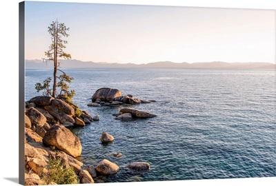 Lake Tahoe And Mountain Landscape, California And Nevada