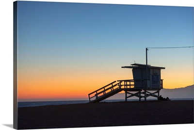 Lifeguard Tower At Venice Beach, California