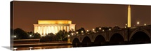 Lincoln Memorial and Washington Monument at Night, Washington, DC