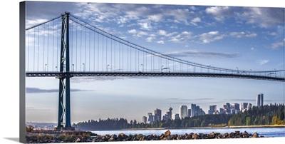 Lion's Gate Bridge and Vancouver Skyline