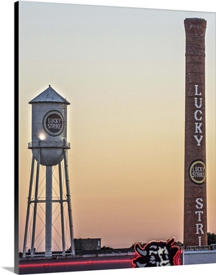 Lucky Strike Water Tower and Smokestack, American Tobacco Historic District, Durham, NC