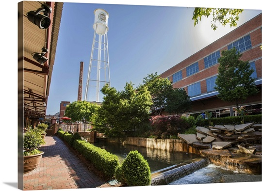 Lucky Strike Water Tower And Water Feature American Tobacco