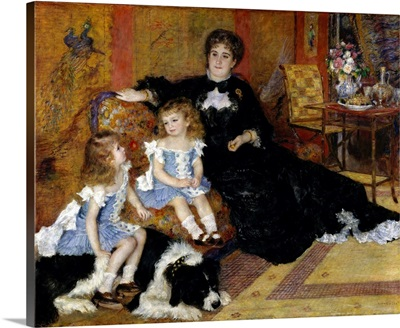 Madame Georges Charpentier and Her Children, Georgette-Berthe and Paul-Emile-Charles