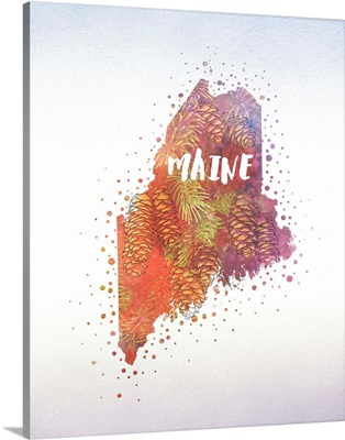 Maine State Flower (White Pinecone)