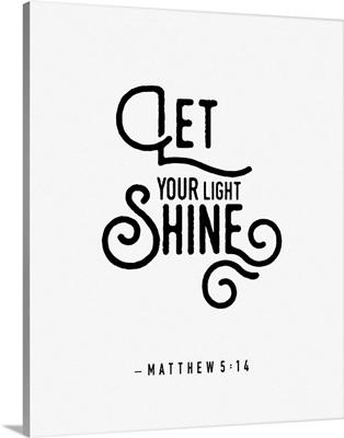 Matthew 5:14 - Scripture Art in Black and White