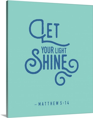 Matthew 5:14 - Scripture Art in Blue and Teal