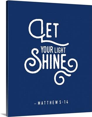 Matthew 5:14 - Scripture Art in White and Navy
