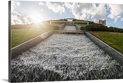 McGovern Centennial Gardens Waterfall at Hermann Park, Houston TX