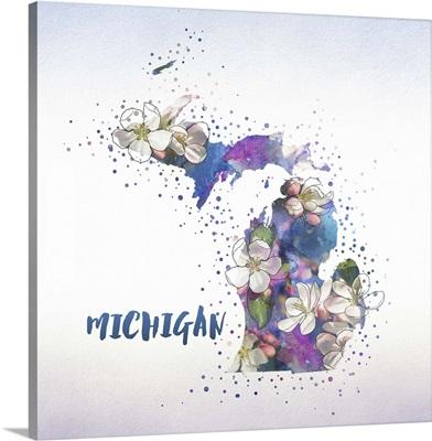 Michigan State Flower (Apple Blossom)