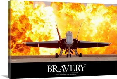 Military Motivational Poster: Brave Men