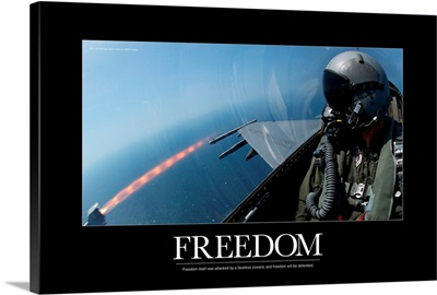 Military Motivational Poster: Freedom Will Be Defended