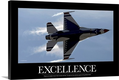 Military Poster: An F-16 Fighting Falcon pulls high G's