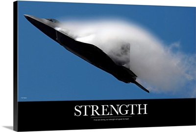 Military Poster - An F-22 Raptor performs during an air show