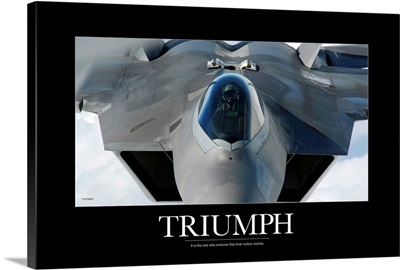 Military Poster: An F-22 Raptor prepares for refueling