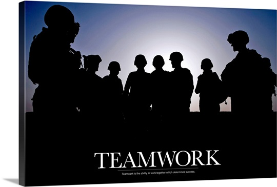 Military Poster: Teamwork is the ability to work together ...