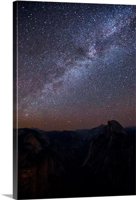 Milky Way In Yosemite National Park, California
