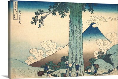 Mishima Pass in Kai Province, from the series Thirty-six Views of Mount Fuji
