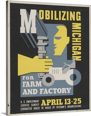 Mobilizing Michigan - WPA Poster
