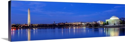 Monuments in Washington, DC at Night